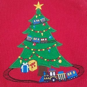 Christmas Tree With Train Vest 18 months